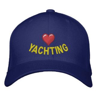 Liebe I, die mit Herzgraphik yachting ist Baseballcap