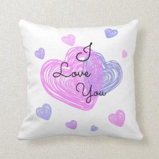 Liebe I, die Sie pillow Kissen