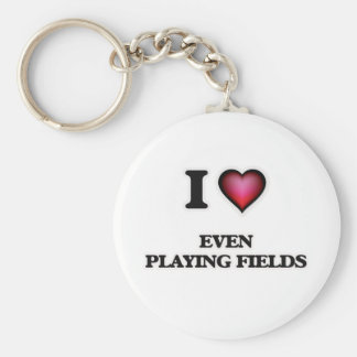 Liebe I, die sogar Felder spielt Schlüsselanhänger