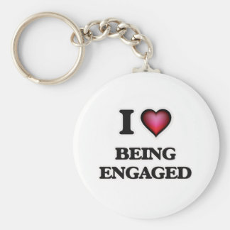 Liebe I, die verlobt ist Schlüsselanhänger