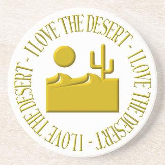 Liebe I die Wüste Sandstein Untersetzer