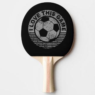 Liebe I dieses Spiel - Fußball-/Fußbalball Tischtennis Schläger