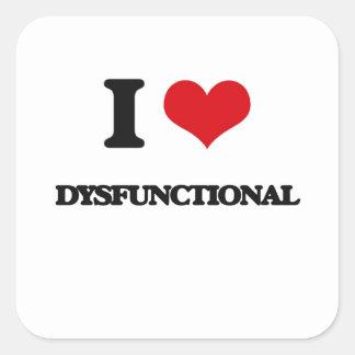 Liebe I dysfunktionell Quadratsticker