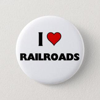 Liebe I Eisenbahnen Runder Button 5,1 Cm