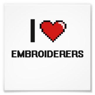 Liebe I Embroiderers Photo Drucke
