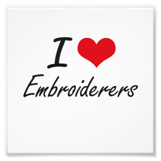 Liebe I Embroiderers Photo Druck