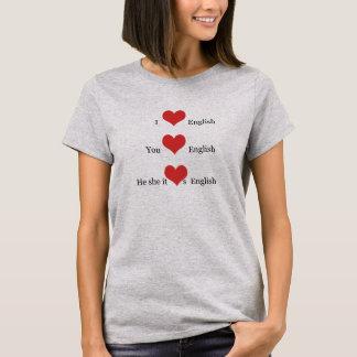 Liebe I englische Grammatik TESOL T-Shirt