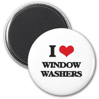 Liebe I Fenster-Waschmaschinen Runder Magnet 5,1 Cm