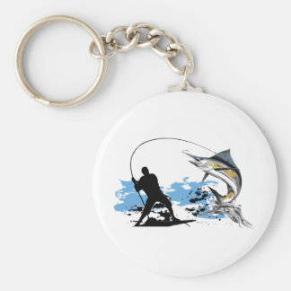 Liebe I Fischerei Standard Runder Schlüsselanhänger