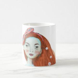 Liebe I Freckles-Tassenniedliches rotes Kaffeetasse