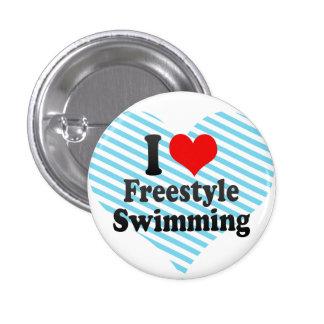 Liebe I Freistil-Schwimmen Buttons