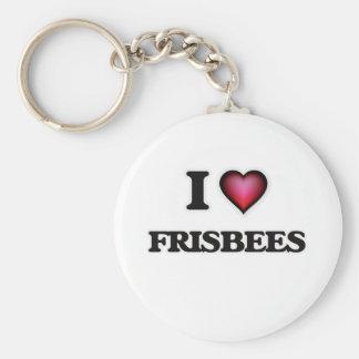 Liebe I Frisbees Schlüsselanhänger