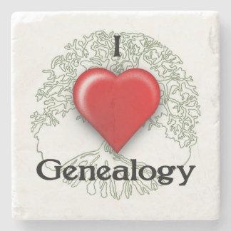 Liebe I Genealogie-Gewohnheits-Untersetzer Steinuntersetzer