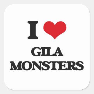 Liebe I Gila-Monster Quadratsticker