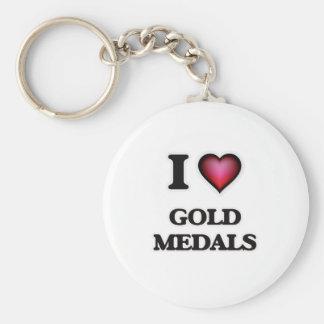 Liebe I Goldmedaillen Schlüsselanhänger