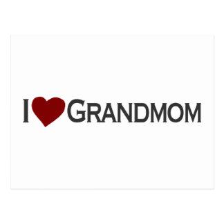 Liebe I grandmom Postkarte