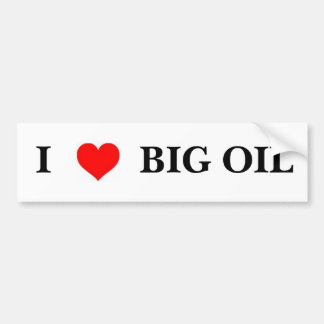 Liebe I großes Öl Auto Sticker