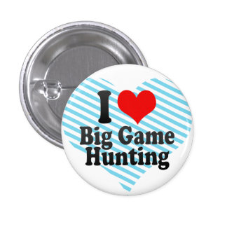Liebe I großes Spiel-Jagd Runder Button 3,2 Cm