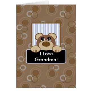 Liebe I Großmutter Karte
