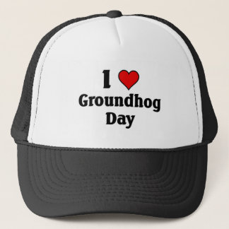 Liebe I Groundhog Tag Truckerkappe