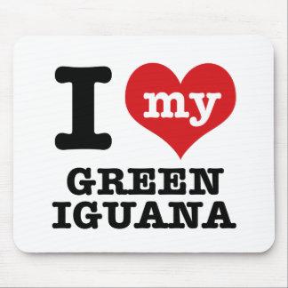 Liebe I grüner Leguan Mousepad
