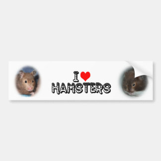 Liebe I Hamster Autoaufkleber