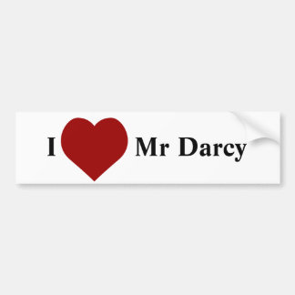 Liebe I Herr Darcy Autoaufkleber