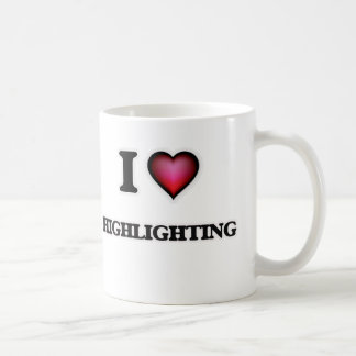 Liebe I Hervorhebung Kaffeetasse