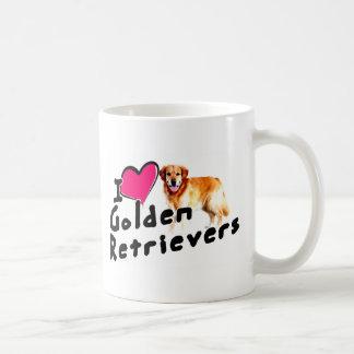 Liebe I (Herz) goldene Retriever Kaffeetasse