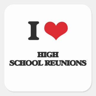 Liebe I Highschool Wiedervereinigungen Quadratischer Aufkleber