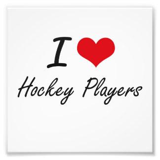 Liebe I Hockey-Spieler Fotodruck