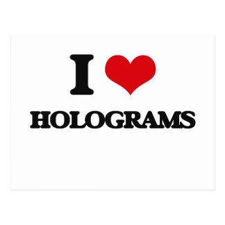 Liebe I Hologramme Postkarte