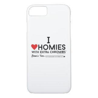Liebe I homies mit Extrachromies Kasten iPhone 8/7 Hülle