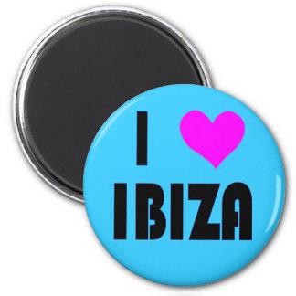 Liebe I Ibiza Magnet Runder Magnet 5,1 Cm