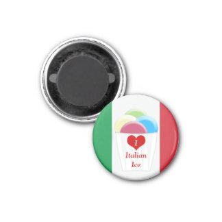 Liebe I italienisches Eis - Verkäufer-Magnet Runder Magnet 3,2 Cm