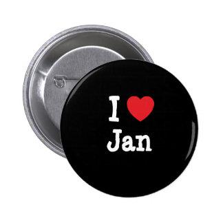 Liebe I Jan.-Herz T - Shirt Anstecknadel