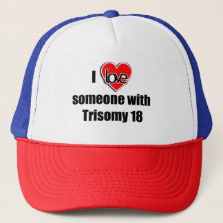 Liebe I jemand mit Trisomy 18 Truckerkappe