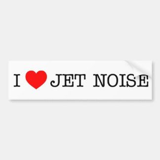 Liebe I Jet-Geräusche Autoaufkleber