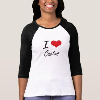 Liebe I Kaktus-künstlerischer Entwurf T-Shirt