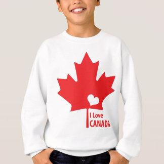 Liebe I Kanada-Ahorn-Blatt Sweatshirt
