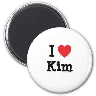 Liebe I Kim-Herz T - Shirt Runder Magnet 5,7 Cm