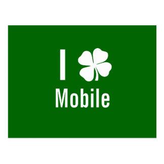 Liebe I Kleeblatt beweglicher Tag St Patricks Postkarten