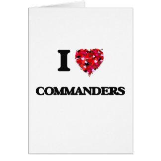 Liebe I Kommandanten Grußkarte