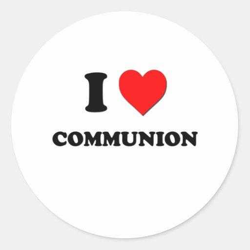 Liebe I Kommunion Runde Aufkleber
