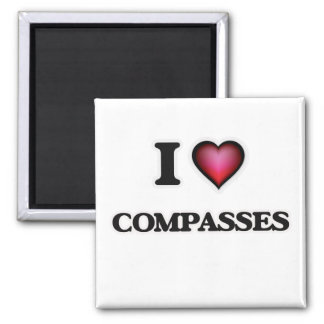 Liebe I Kompassse Quadratischer Magnet