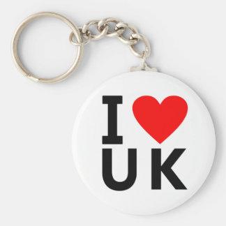 Liebe I Königreich-Land wie Herzreise zu Schlüsselanhänger