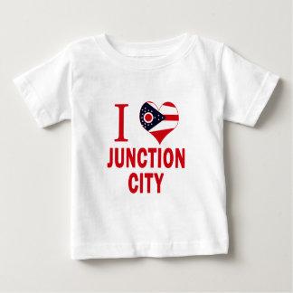 Liebe I Kreuzungs-Stadt, Ohio Baby T-shirt