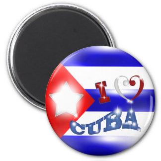 Liebe I Kuba-Magnet Runder Magnet 5,1 Cm