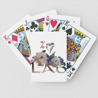 Liebe I Labrador Bicycle Spielkarten
