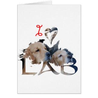 Liebe I Labrador Karte